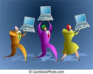 computer, team