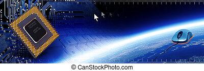 Computer Tech Banner 2 - Header regarding technology and ...