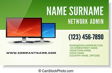 Computer tech business card