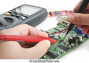 Computer technician - Technician repairing computer hardware...