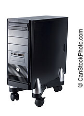 computer technology cpu - close up of a cpu of a black ...