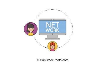 computer technology net work people