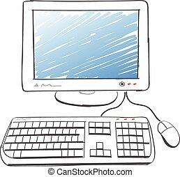 computer, tekening