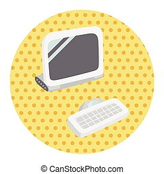 computer theme elements vector,eps