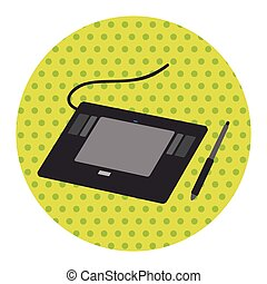 computer theme graphics tablet elements vector
