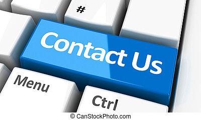 computer toetsenbord, contacteer ons