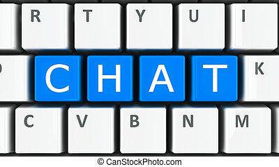 computer toetsenbord, praatje
