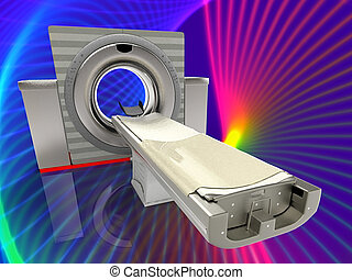 computer tomographic scanner 3d illustration