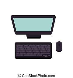 computer, topo, tastiera