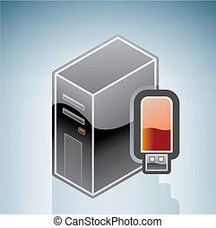 Computer USB disk drive