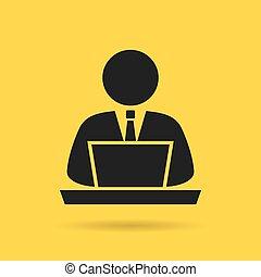 Computer user icon - Computer user vector icon