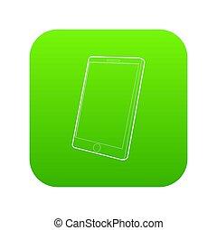 computer, verde, tavoletta, icona