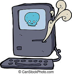computer virus cartoon