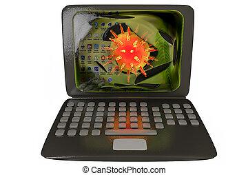 Computer virus, conceptual image