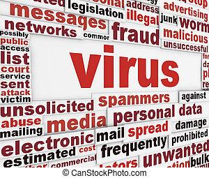 Computer virus warning message design
