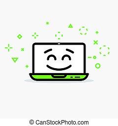 computer, vrolijke