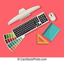 Computer web design graphic, vector illustration eps10