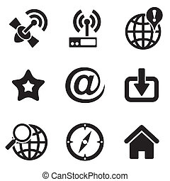 computer web icons - set vector computer icons of web and...