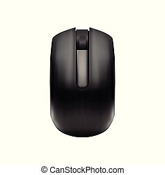 Computer Wireless Mouse - Mock Up Template Isolated on White Background Easy to Edit