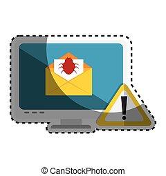computer with computing alert