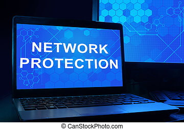 Computer with network protection