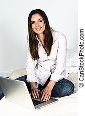 computer woman