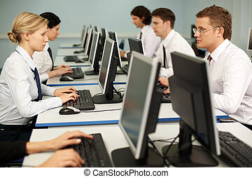 Computer work - Photo of confident businesspeople doing some...