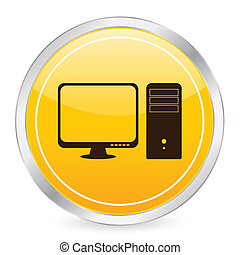 computer yellow circle icon