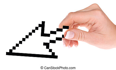 computercursor, in, hand