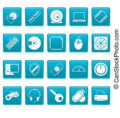 computerikon, auf, blaues, quadrate