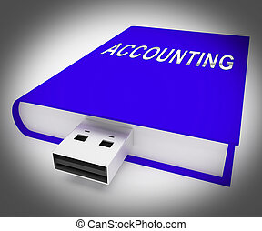 Computerized Accounting Digital Bookkeeping Audit 3d Rendering