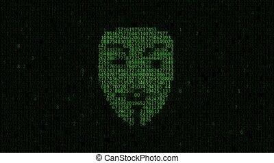 computerkraker, attack., computerkraker, een, persoon, van