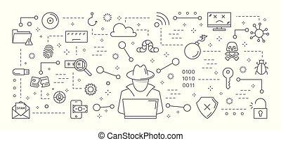computerkraker, set., iconen