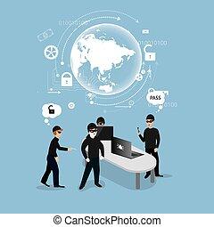 computerkraker, veiligheid, concept, internet