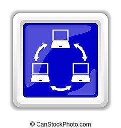 computernetzwerk, ikone