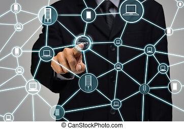 computernetzwerk, internet