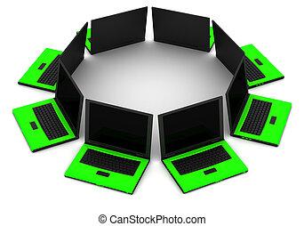 computernetzwerk, kommunizieren