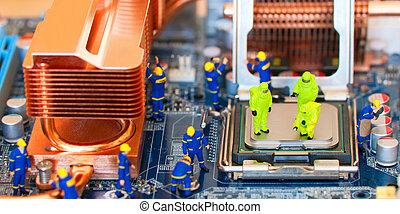 computerreparatie, concept
