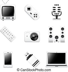 Computers and electronic devices icons