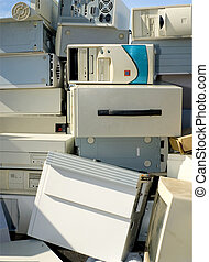 Computers for Recycling or Disposal - A mound of junk...