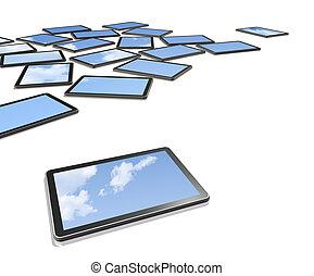 computers, tv, schermen, 3d