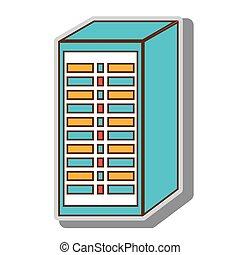 computersystem, stromkreis, hosting