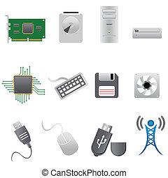 computerteile, und, hardware