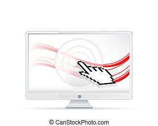 computerzeiger, monitor