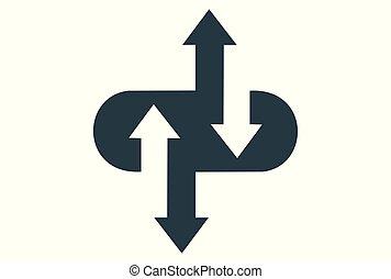 computing data arrow logo icon