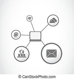 computing laptop icons vector