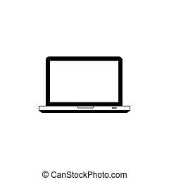 computter, techniczny, poparcie, ikona