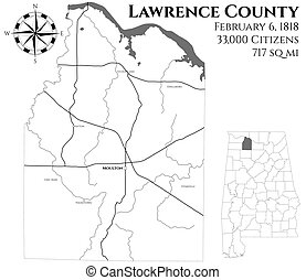 comté, carte, alabama, lawrence