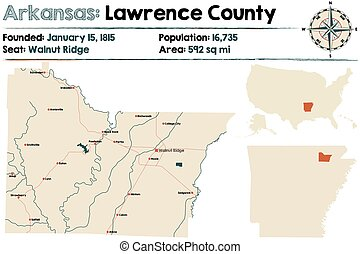 comté, carte, arkansas:, lawrence
