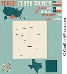 comté, carte, floyd, texas